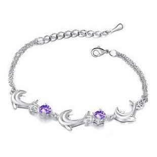 Imitate-Diamond Penguin Bracelet 14046