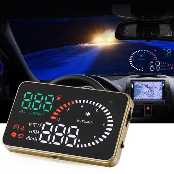 (Import) Universal X6 3 Inch Car OBD2 II HUD Head Up Display