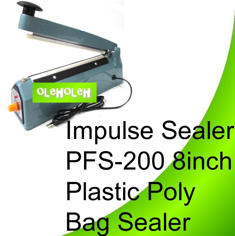 Impulse Sealer PFS-200 8inch Plastic Poly Bag Sealer