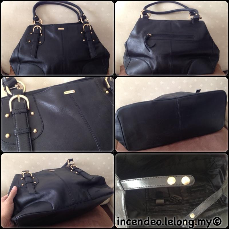 **incendeo** - Authentic ANNAPELLE Black Leather Handbag for Ladies