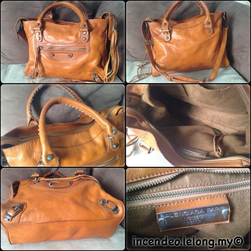 **incendeo** - Authentic BALENCIAGA Classic City Brown Leather Bag