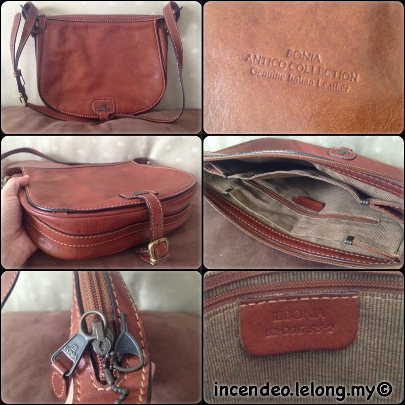 **incendeo** - Authentic BONIA Antico Collection Genuine Leather Handb