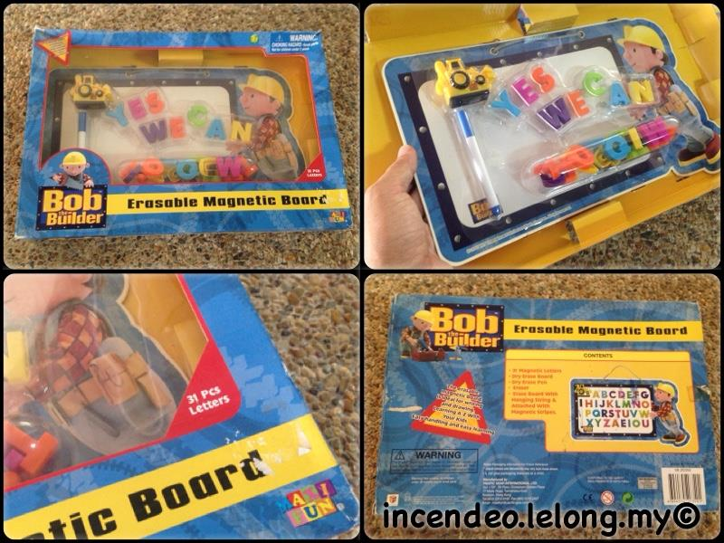 **incendeo** - Bob The Builder Erasable Magnetic Board for Kids