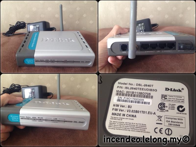 **incendeo** - D-LINK Wireless ADSL2+ Router DSL-2640T