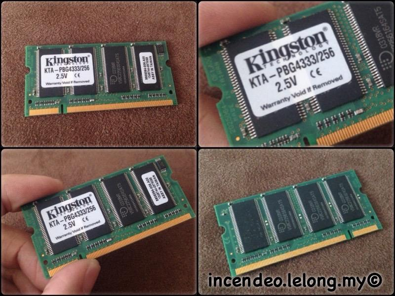 **incendeo** - KINGSTON 256MB PC2700 Memory for Apple KTA-PBG4333/256