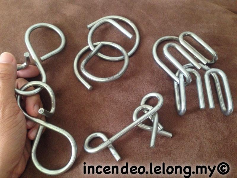 **incendeo** - Large Stainless Steel Puzzle Rings