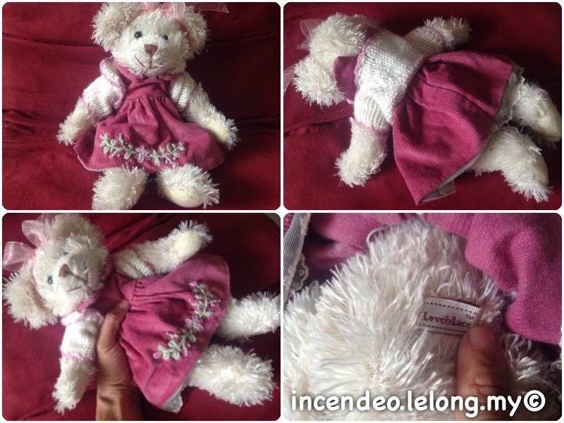 "**incendeo** - Lovely Lace Australia Design 12"" Girl Bear Soft Toy"