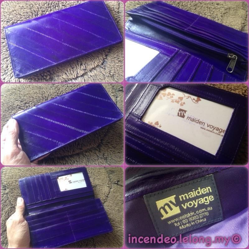 **incendeo** - maiden voyage Australia Eelskin Purple Long Wallet