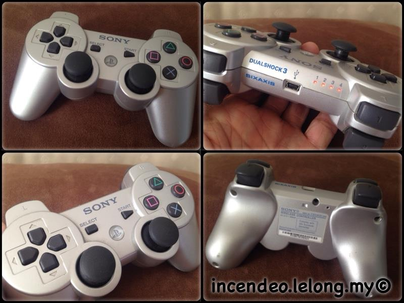 **incendeo** - SONY DUALSHOCK 3 SIXAXIS Silver Wireless Controller for