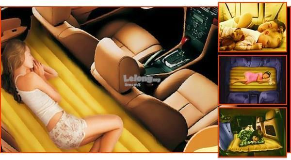 INFLATABLE CAR BED CW PUMP (RANDOM COLOUR)