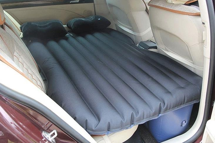 Inflatable Car Back Seat Air Bed Mattress with Pillow Travel Camping