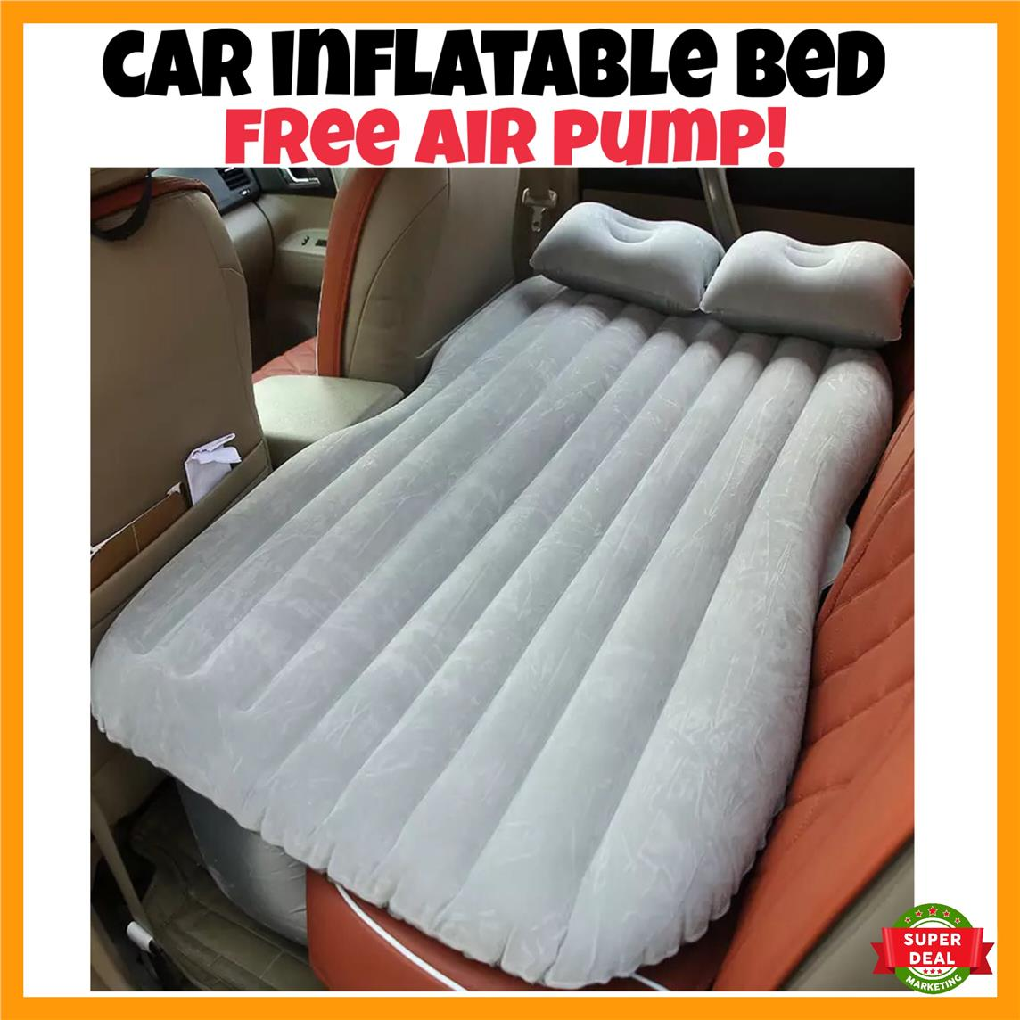 Baby bed camping - Inflatable Car Back Seat Air Bed Travel Camping Sleep Baby Kids Bed