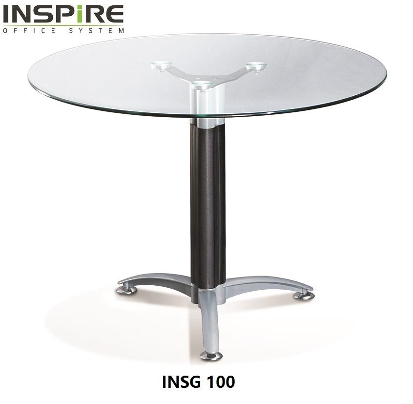 Inspire INSG 100 Glass Round / Discussion Table