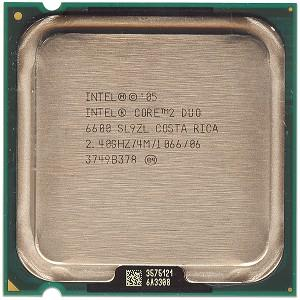 Intel Core 2 Duo Processor E6600 2.40GHz Socket 775 LGA775 C2D CPU