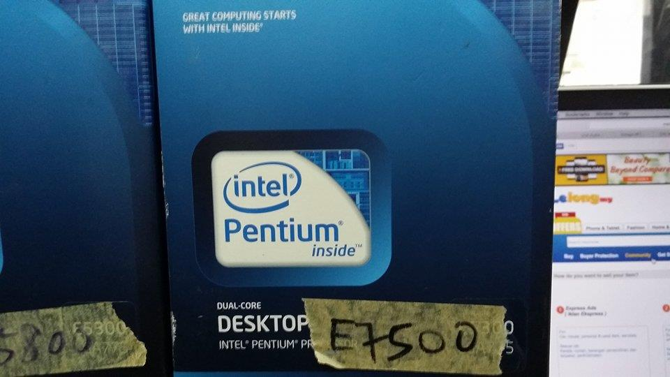Intel Core 2 Duo Processor E7500 2.93GHz, 1066 MHz FSB LGA775 Full Box