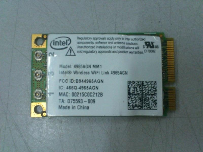Intel WiFi Link4965AGN Mini PCI Wireless Card HP dv3000 140813