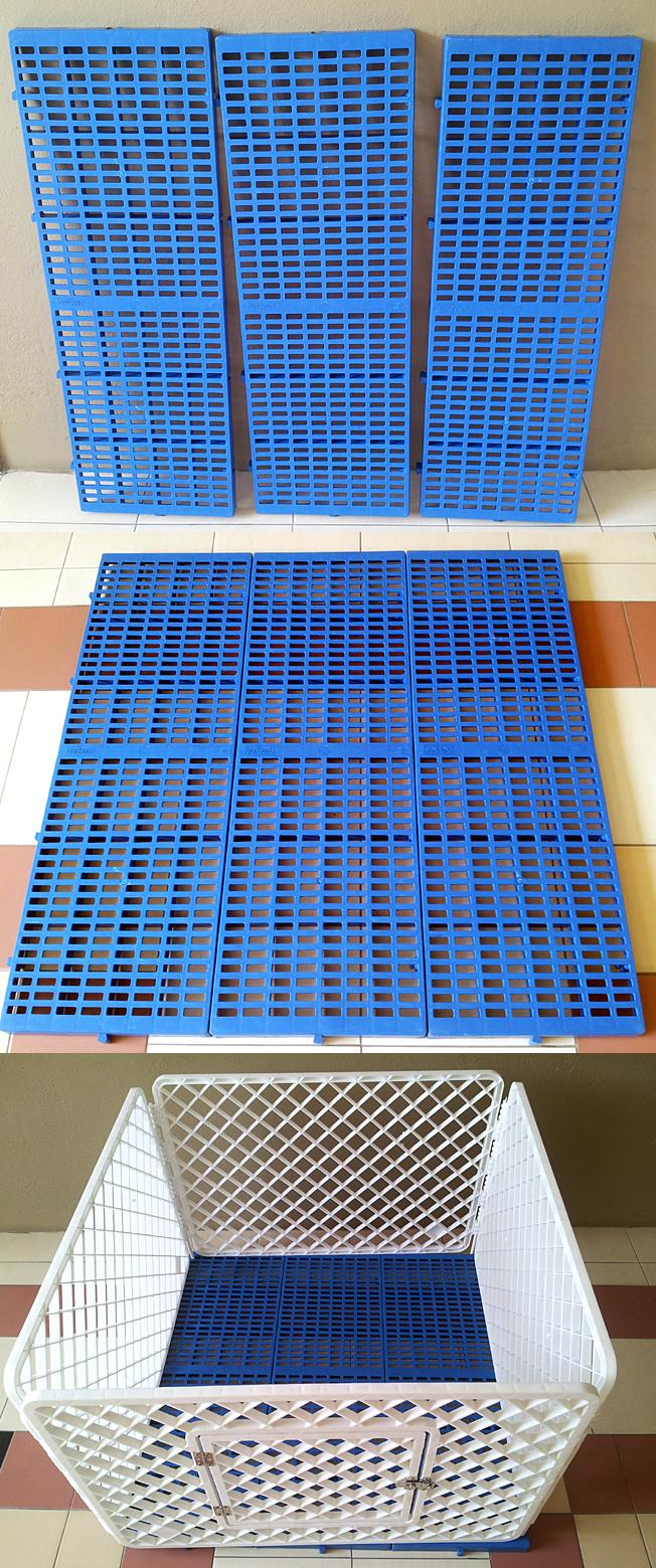 Interlocking Plastic Floor panels Pet Playpen Base