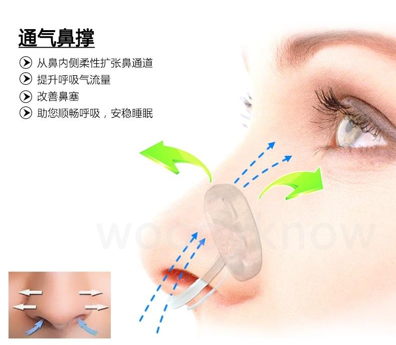 Invisible ventilation nasal support