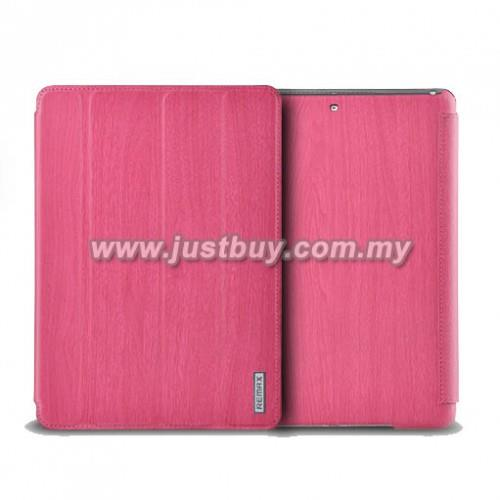 iPad Air Remax Wood Grain Leather Case - Pink