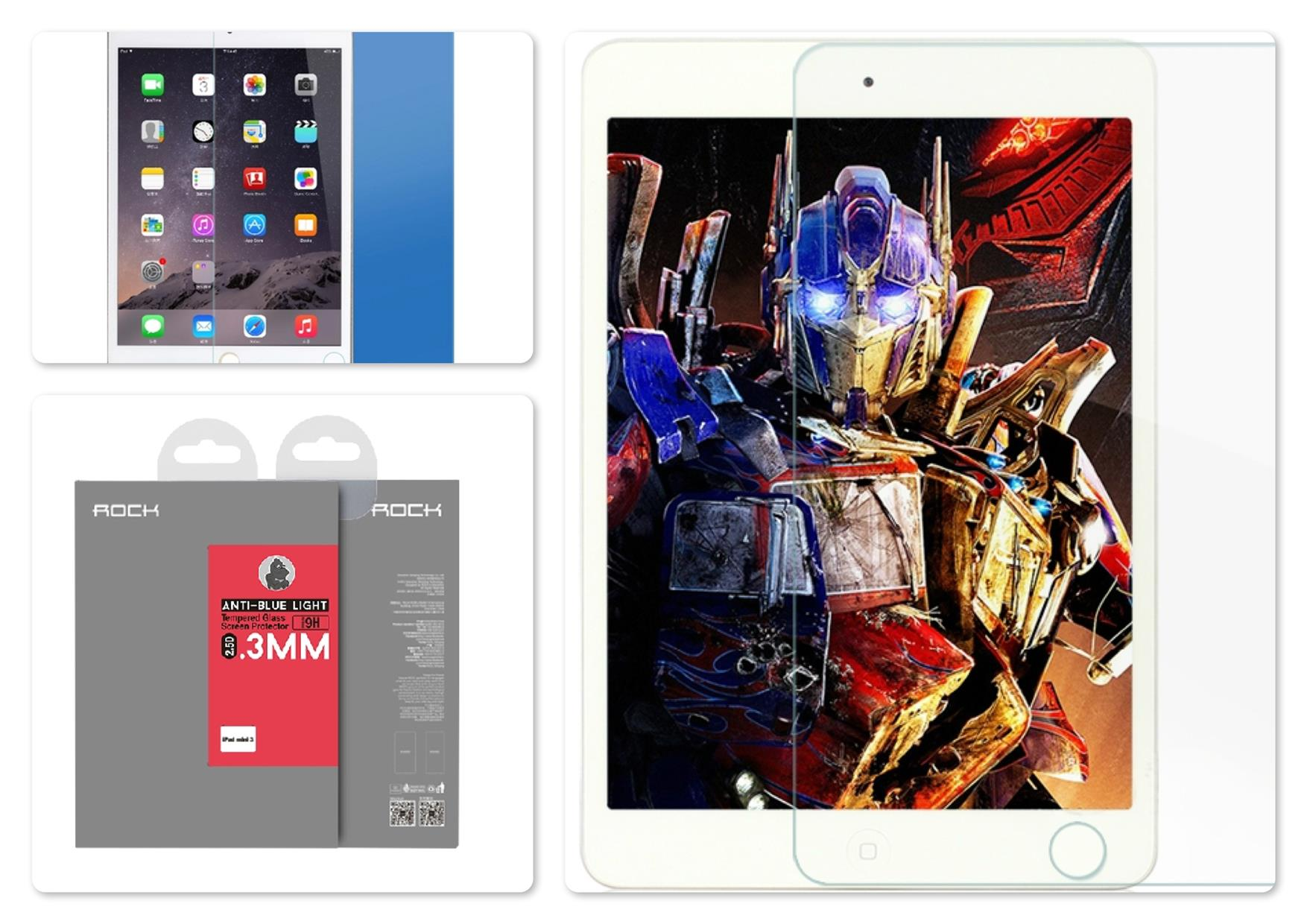 iPad Mini 3 Rock Anti Blue-Light 2.5D 0.3mm Tempered Glass Protector