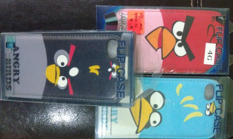 IPHONE 4 4S ANGRY BIRD FLIP POUCH