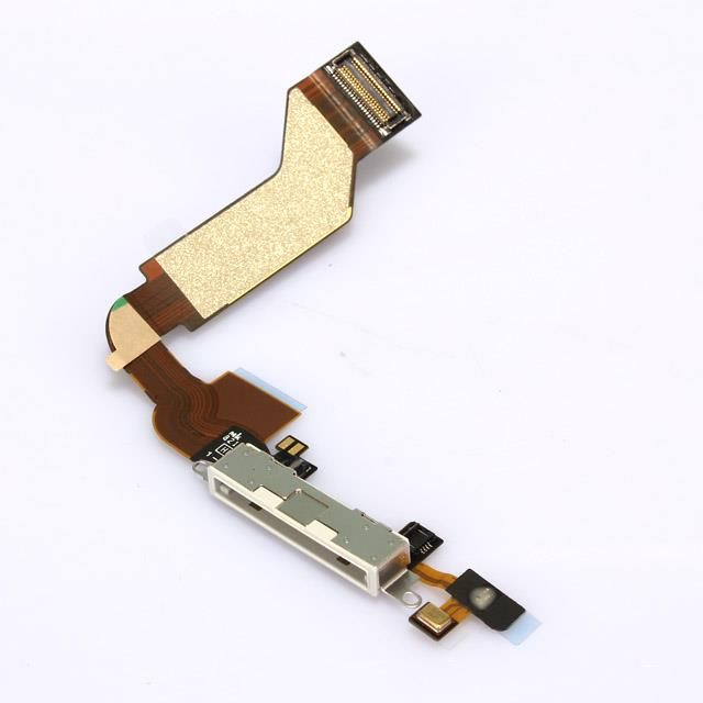 iPhone 4S Charging Port Flex Cable White