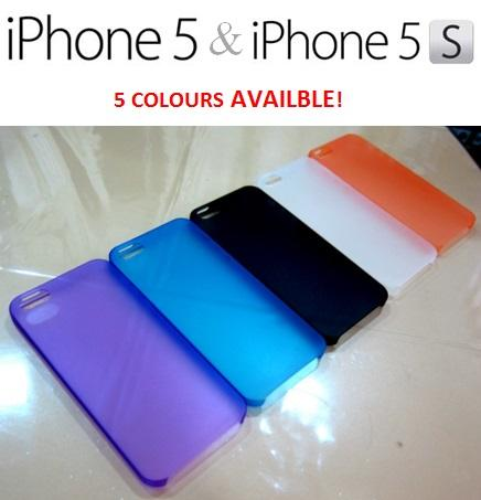 iPhone 5 5c 5s 6 6s 7 Plus ULTRA THIN Soft Transparent Case Matte