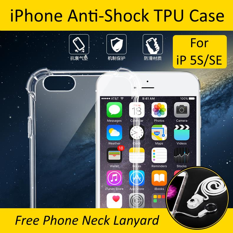 iPhone 5S/SE Anti-Shock Transparent Soft TPU Case