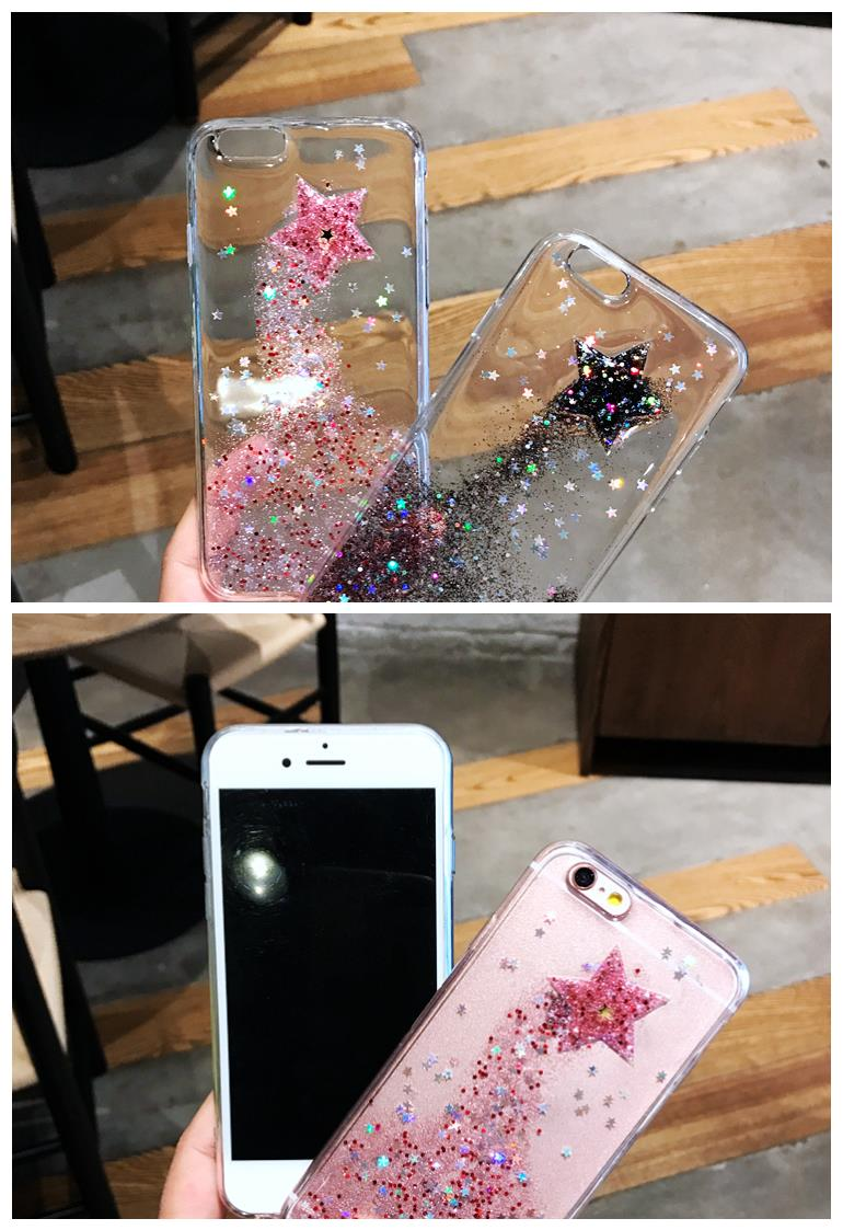 iPhone 6/6s/7 4.7'',6Plus/6sPlus/7 Plus 5.5'' Bling Bling Star Case