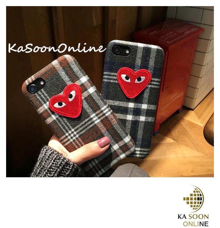 iPhone 6/6s/7 4.7'',6Plus/6sPlus/7 Plus 5.5'' Grid & Love Case