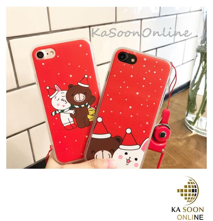 iPhone 6/6s/7 4.7'',6Plus/6sPlus/7 Plus 5.5'' Line Christmas Case