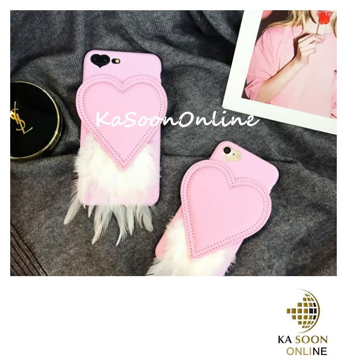 iPhone 6/6s/7 4.7'',6Plus/6sPlus/7 Plus 5.5'' Love Feather Case