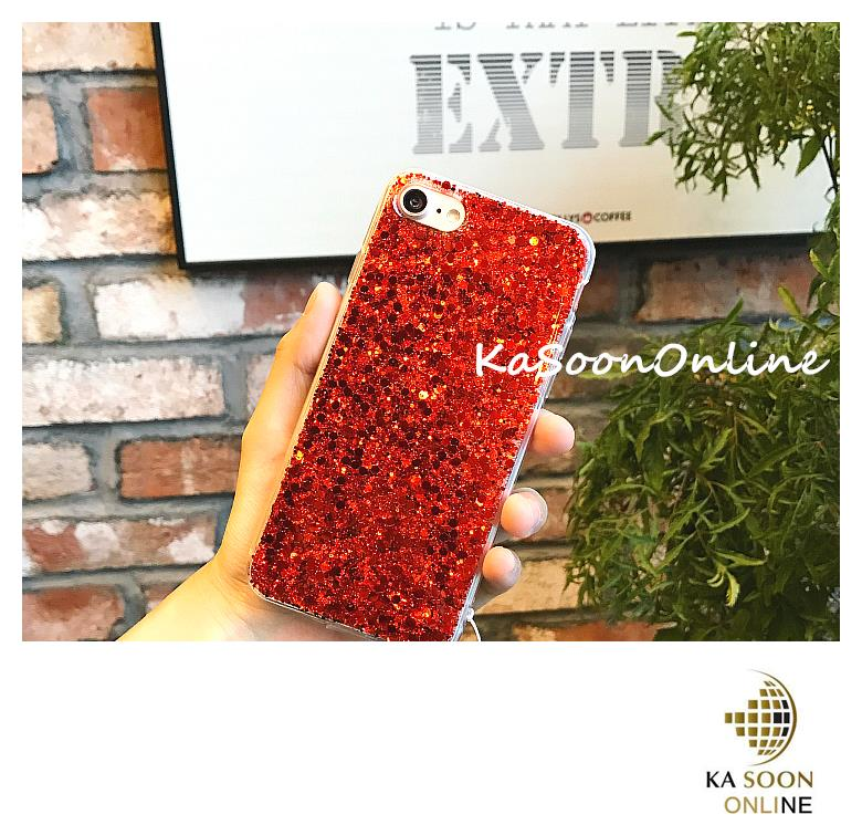 iPhone 6/6s/7 4.7'',6Plus/6sPlus/7 Plus 5.5'' Red Bling Bling Case