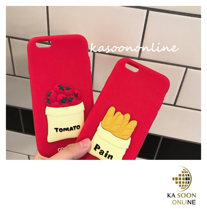 iPhone 6/6s/7 4.7'',6Plus/6sPlus/7 Plus 5.5'' Tomato & Bread Case