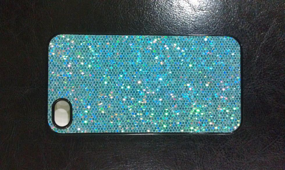 IPHONE BLUE BLING BLING HARD CASE