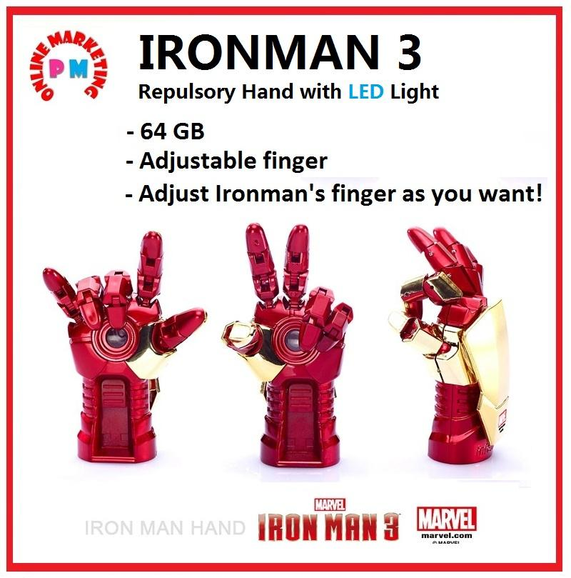 IRON MAN 3 Repulsory Hand LED 64GB USB Pendrive