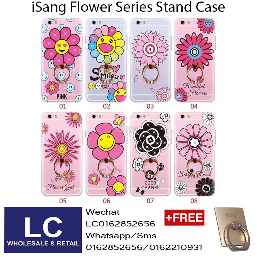 iSang Flower Series Stand Case For Apple Iphone 5 / 6 / 7 / 7 Plus