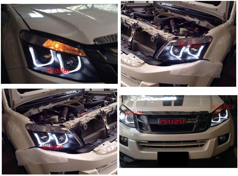 Isuzu D Max 2012 Projector U Style LED Head Lamp