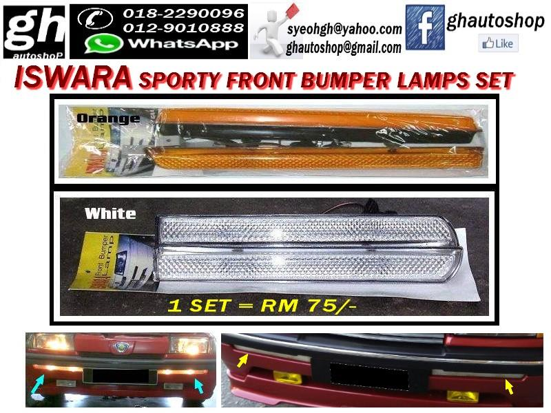 ISWARA SPORTY FRONT BUMPER LAMPS SET