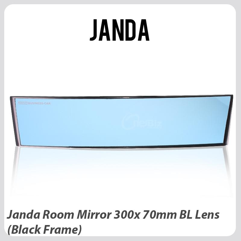 Janda Room Mirror 300 X 70mm BL Lens (Black Frame)