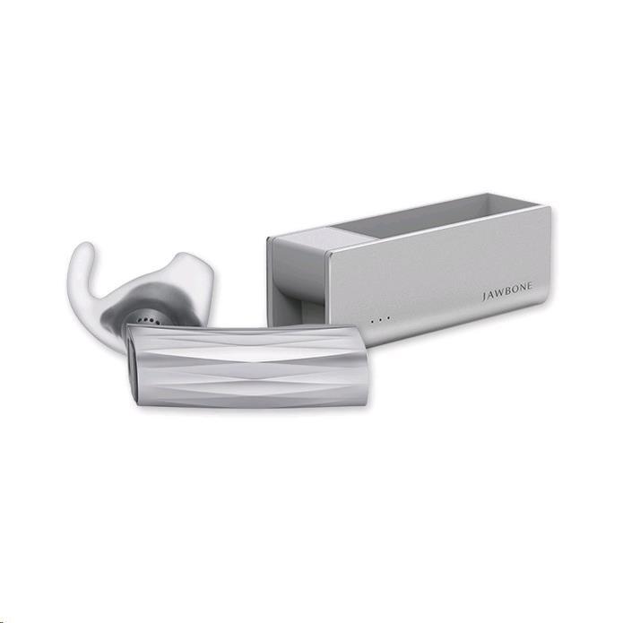 Jawbone New ERA Bluetooth Headset with Charging Case (Silver Cross)