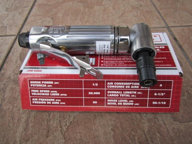 "JET Professional 1/4"" Right Angle Air Die Grinder"