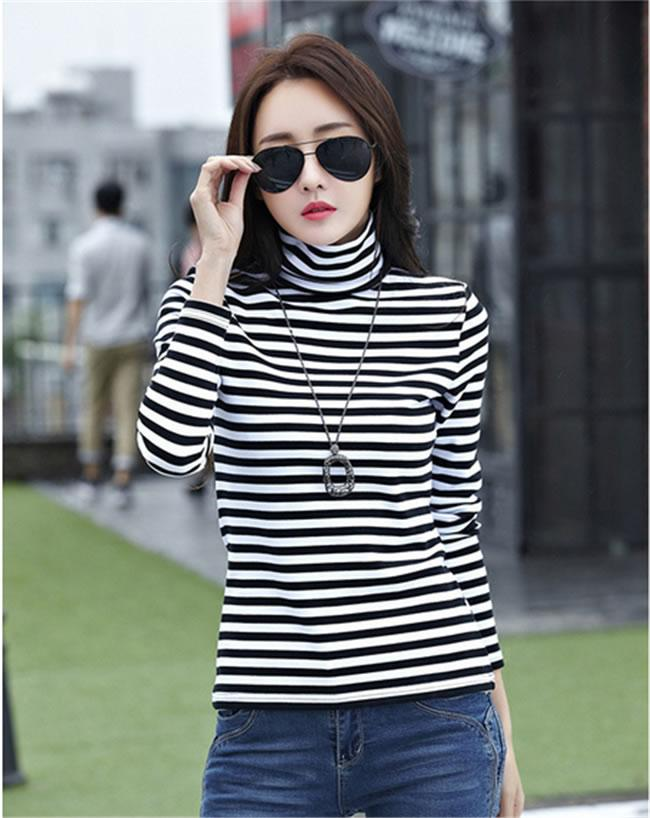JF TF737 Casual Stripe Tops