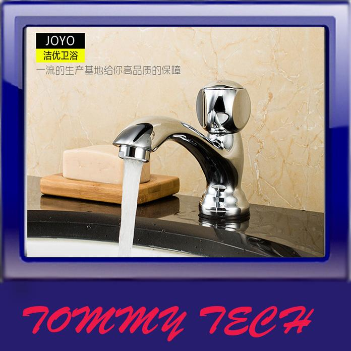 JOYO bathroom vanities single cold faucet ceramic basin wash basin fau
