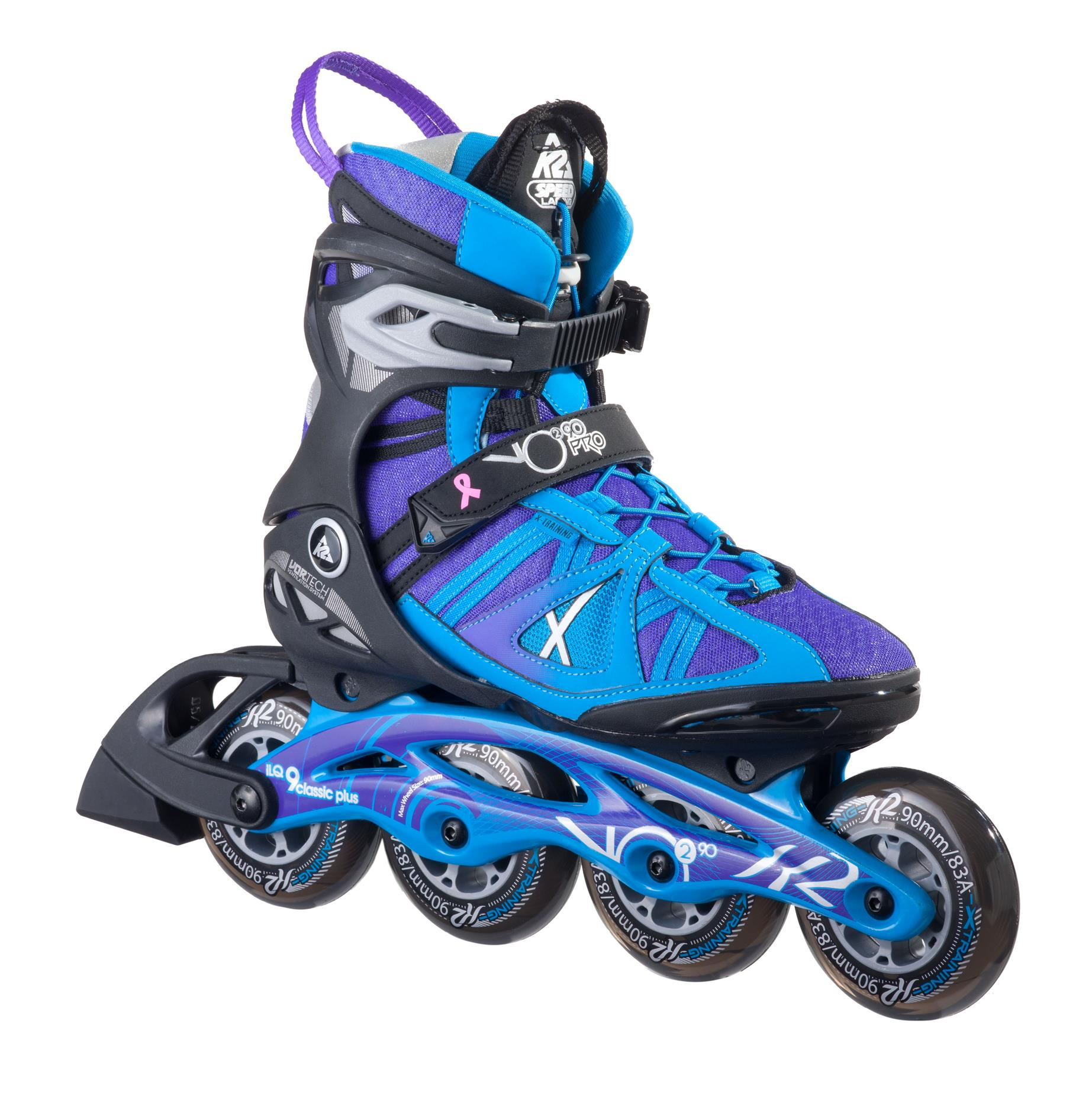 Roller skate shoes penang - K2 Vo2 90 Pro Womens Recreational Freestyle Inline Skate