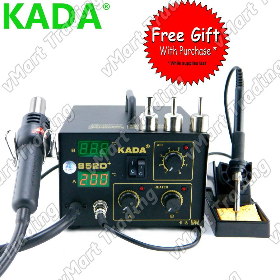 KADA 852D+ Digital Soldering & Hot Air Rework Station + FREE GIFTS