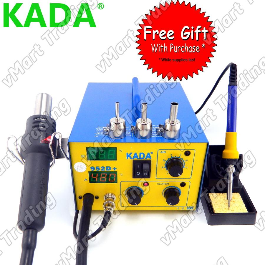 KADA 952D+ Soldering Iron + Diaphragm Pump Hot Air Rework Station