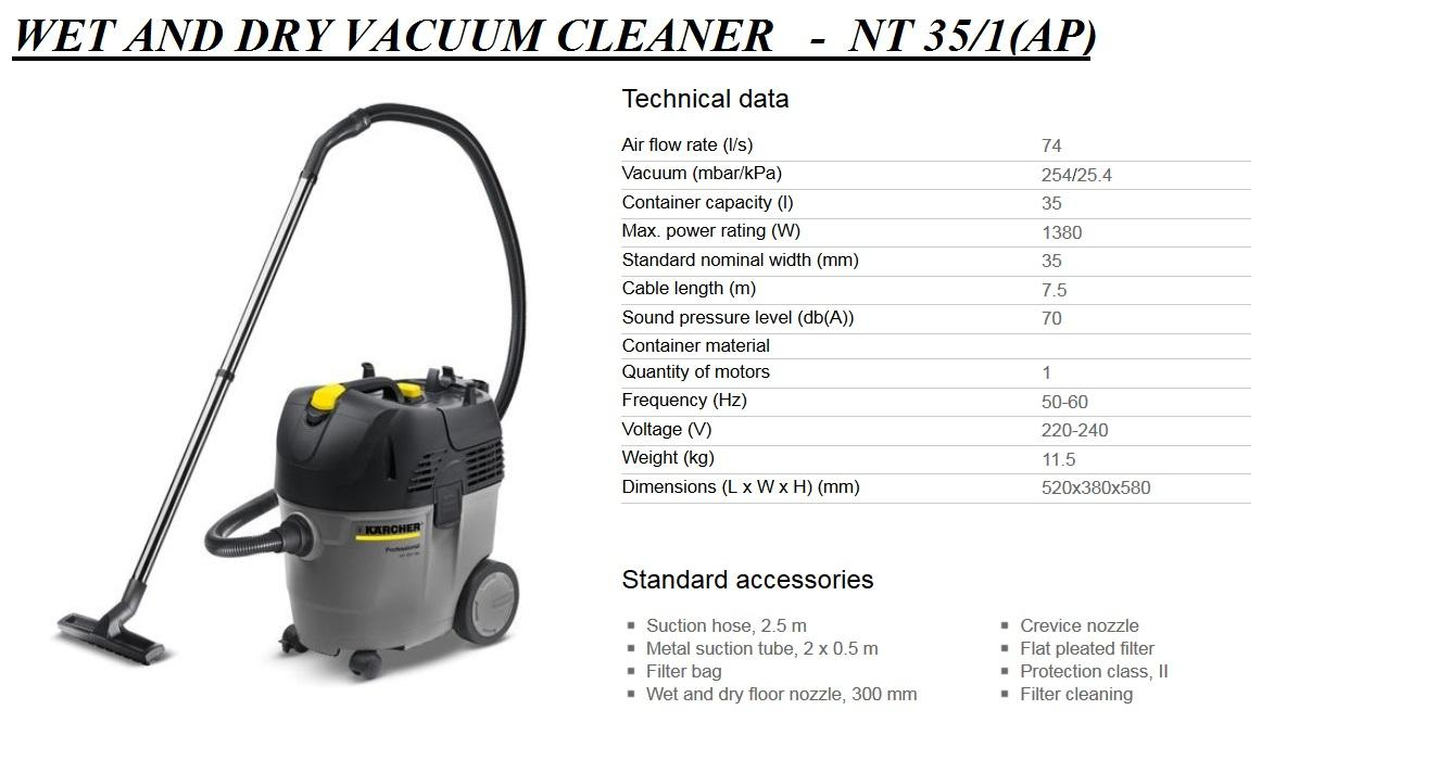 Karcher NT 351 AP Eco Wet and Dry Va (end 932018 112 PM)