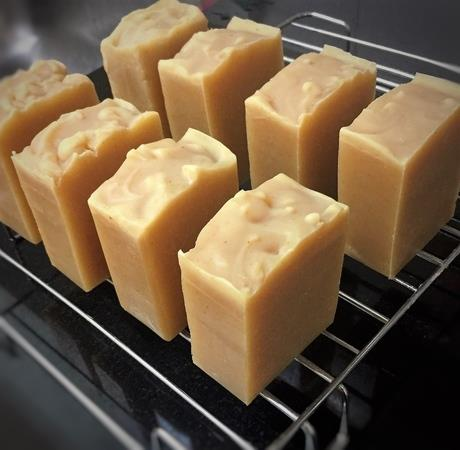 Kelly's Natural Handmade Turmeric Goat Milk Soap scented w. Citronella