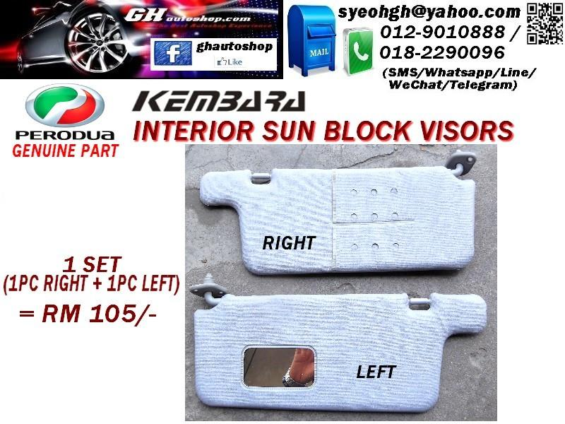 KEMBARA ORIGINAL INTERIOR SUN BLOCK VISORS (2PC)